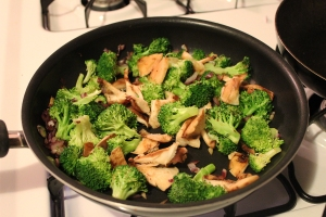 broccoli & mushroom